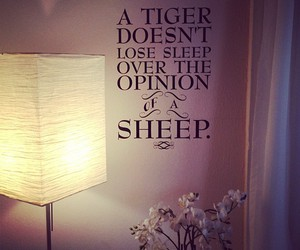 quote, text, and tiger image