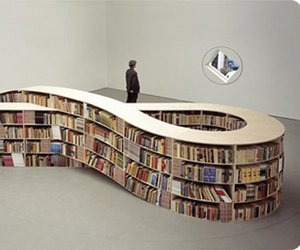book, infinity, and library image