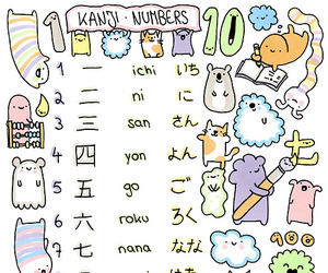 japanese, japan, and numbers image