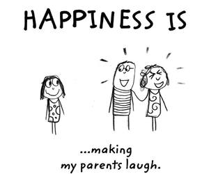 happiness and parents image