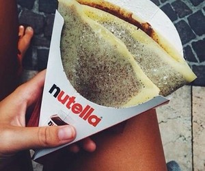 lover, nutella, and crepe image