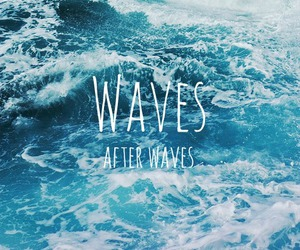 waves, sea, and summer image
