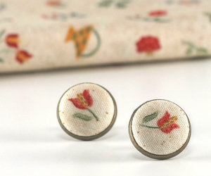 fabric earrings, tiny stud earrings, and minimalist jewelry image