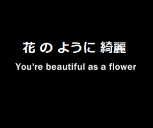 beautiful, black and white, and japanese quote image
