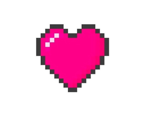 heart, overlay, and pixel image