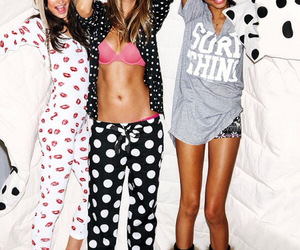 Behati Prinsloo, Chanel Iman, and girl image