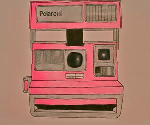 camera, polaroid, and pink image