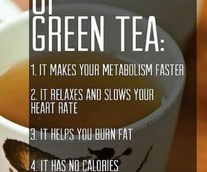 green tea, healthy, and motivation image