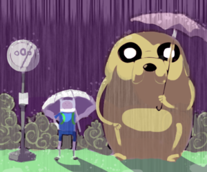 finn, JAKe, and totoro image