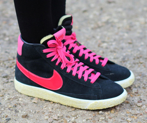 blazer, nike, and shoes image