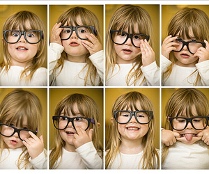 cute, glasses, and baby image