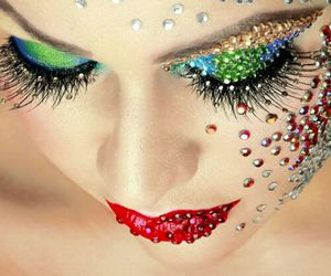 diamonds, makeup, and eyes image