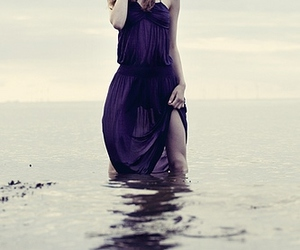 dress, sea, and water image