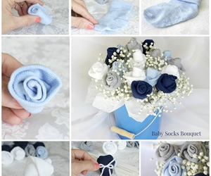 bouquet, diy, and baby shower image