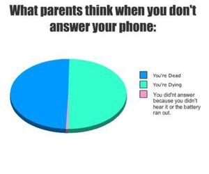 parents, phone, and funny image