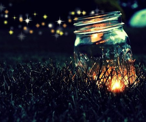 light, night, and jar image