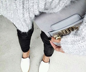 bag, shoes, and white image