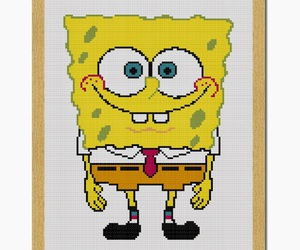 adorable, squarepants, and cross stitch image