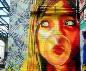 arte, graffitti, and colores image