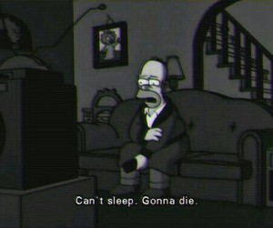 homer, simpsons, and sleep image