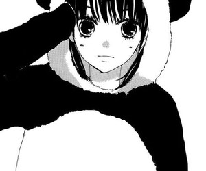 panda, anime, and girl image