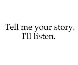 story, quotes, and listen image