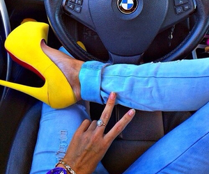fashion, bmw, and yellow image