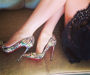 christian louboutin, heels, and pointy image