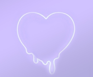 purple, heart, and pastel image