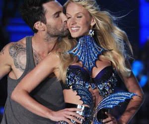 Victoria's Secret, adam levine, and kiss image