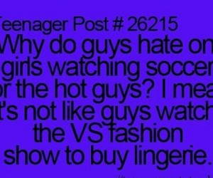 hate, soccer, and lingerie image