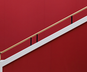red, staircase, and stairs image