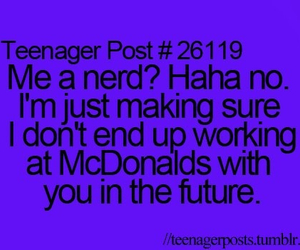 funny, nerd, and McDonalds image