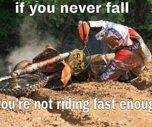 crazy, funny, and motocross image