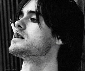 jared leto, 30stm, and black and white image