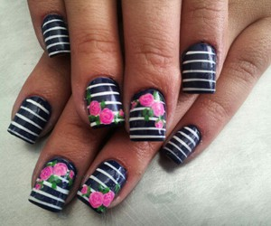 nails flowers nice girls image
