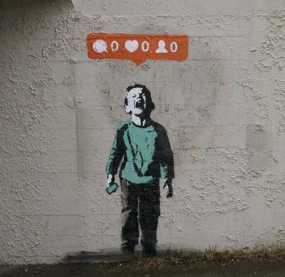 instagram, art, and BANKSY image