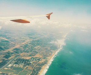 adventure, airplane, and city image