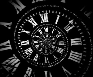 time, black, and clock image