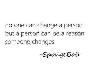 quote, spongebob, and change image