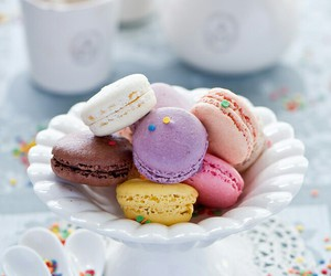colors, macarrons, and sweet image