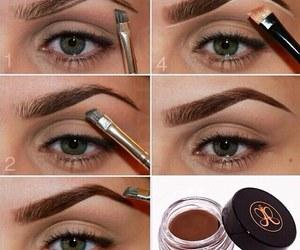 makeup, eyebrows, and tutorial image