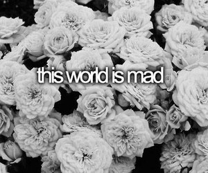 mad, world, and black and white image