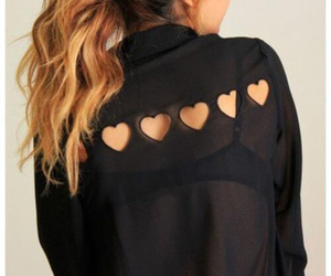 fashion, black, and heart image