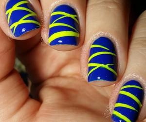 blue, manicure, and nail art image