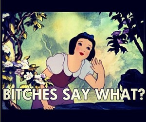 bitch, disney, and snow white image