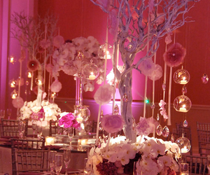 wedding, candle, and centerpiece image