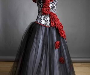dress, rose, and beautiful image