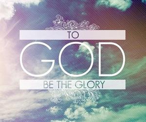 god, glory, and faith image