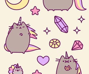 cat, unicorn, and pusheen image